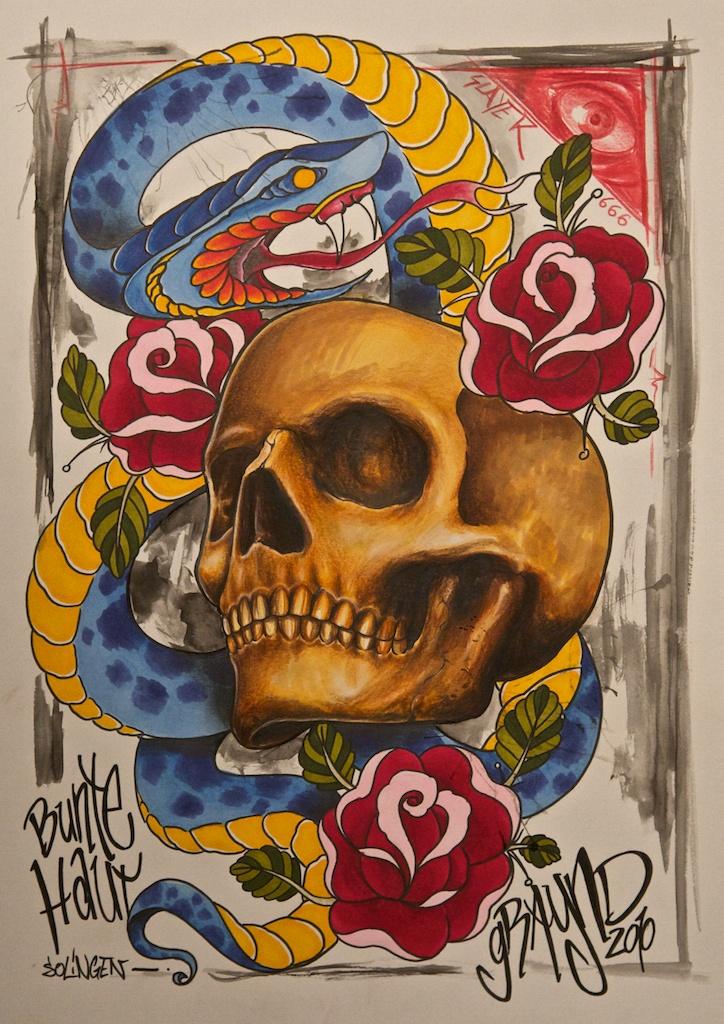 snake and skull... by graynd