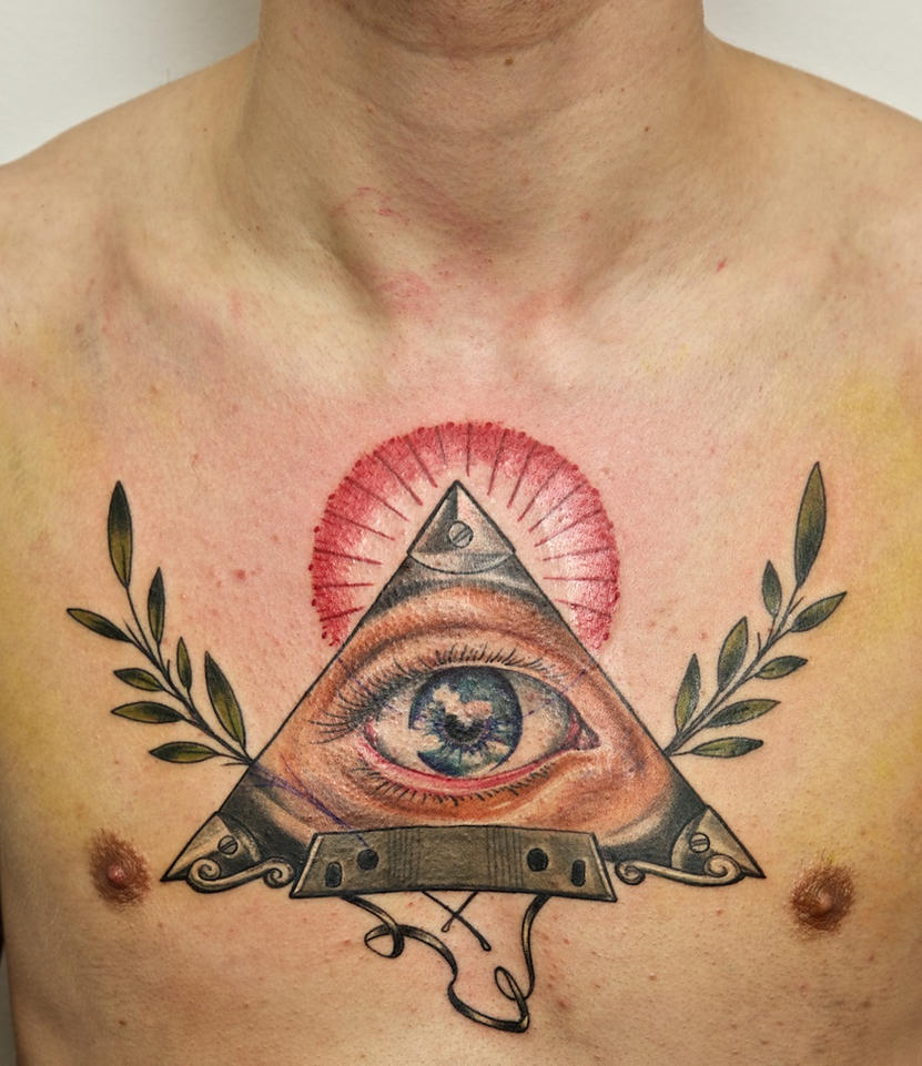 freemason on chest by graynd