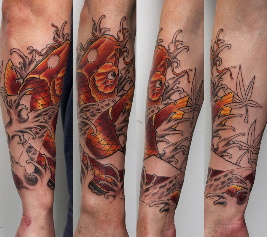 koi tattoo by graynd