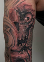 skullstyle on arm by graynd