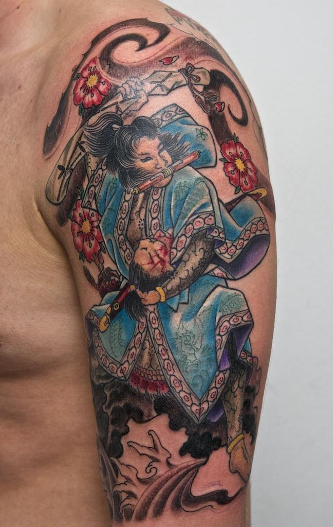 samurai tattoo WIP2 by graynd