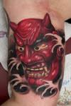 asian mask tattoo