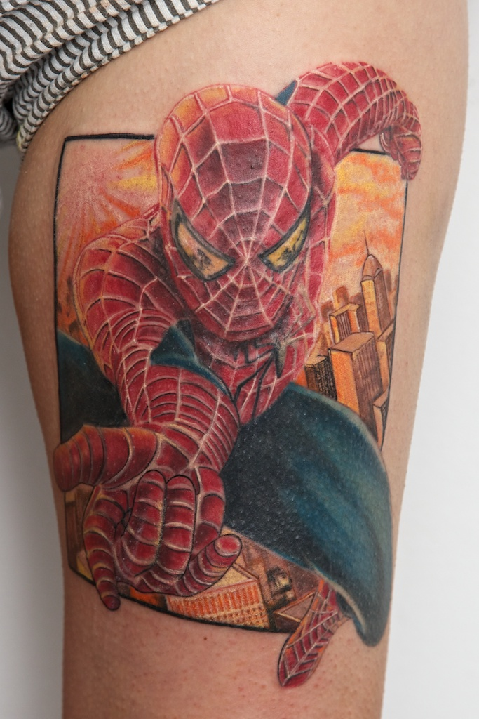 spiderman tattoo by graynd on deviantart. Black Bedroom Furniture Sets. Home Design Ideas