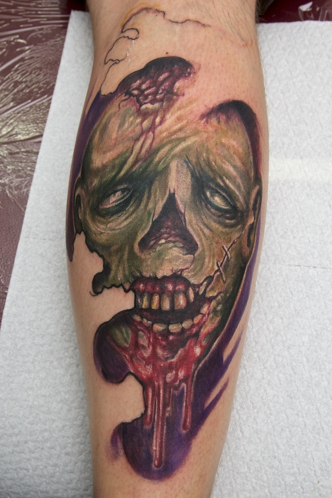 Freestyle zombie in progres by graynd on deviantart for Zombie tattoo machine