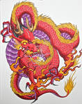dragon done with markers