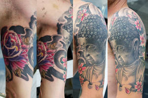 buddha tattoo project by graynd