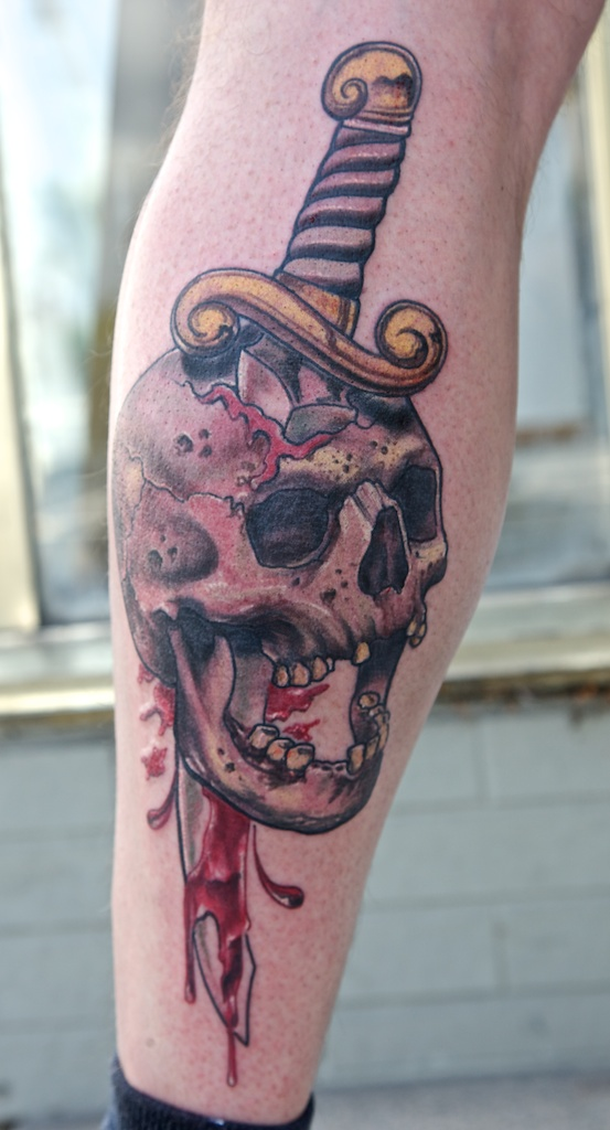 skull and dagger by graynd
