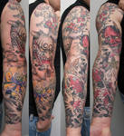 hannya daikijin and koi sleeve