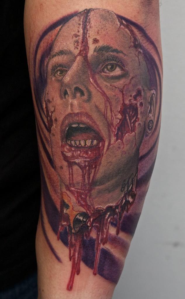 self portrait zombie style