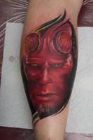 hellboy tattoo by graynd