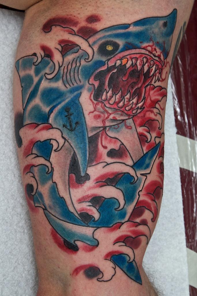 Zombie Shark Tattoo | www.pixshark.com - Images Galleries ... Zombie Shark Tattoo
