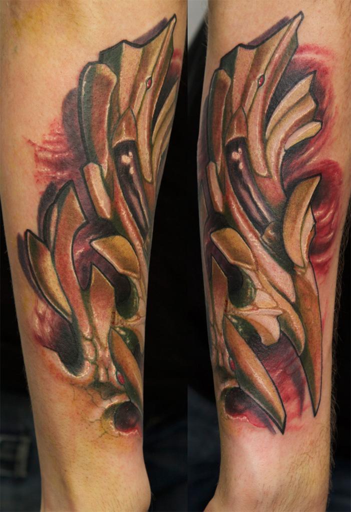 custom fractal tattoo by graynd