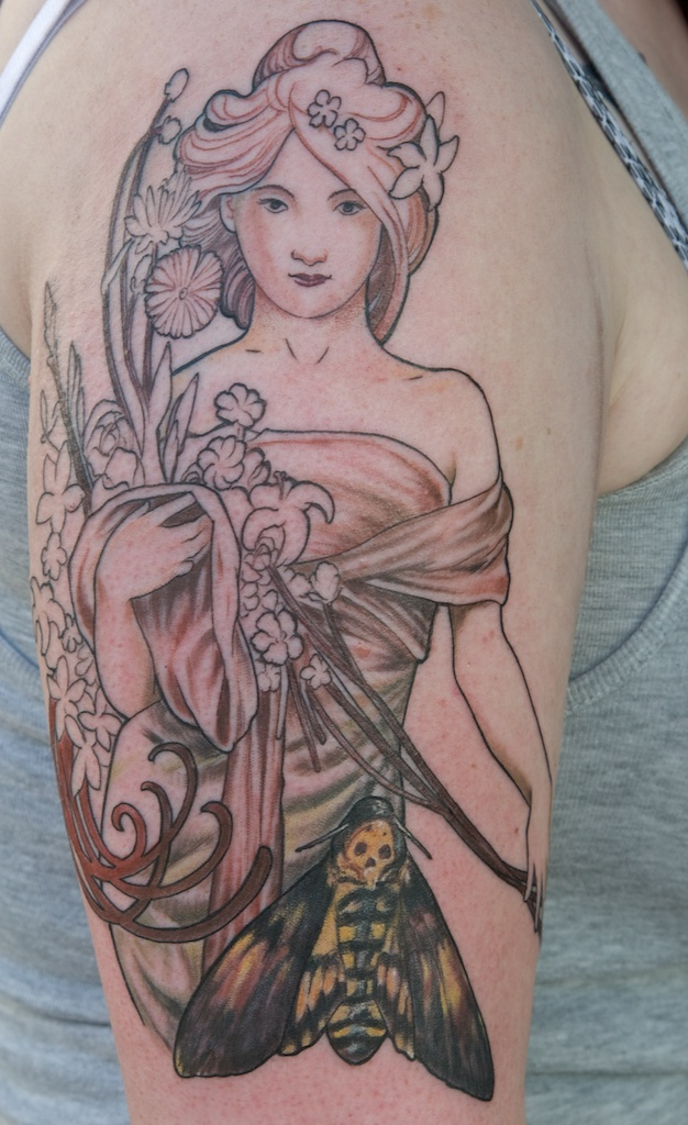 modified mucha tattoo IN PROGRESS by graynd