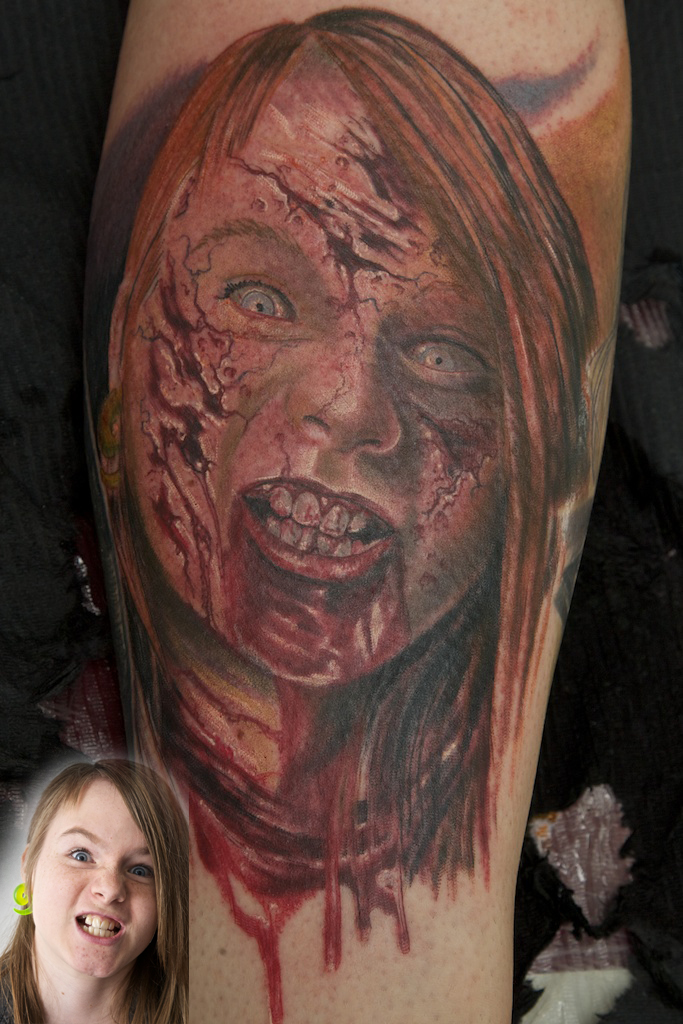 zombie tattoo by graynd