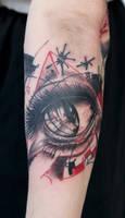 custom arm project, eyeball detail by graynd