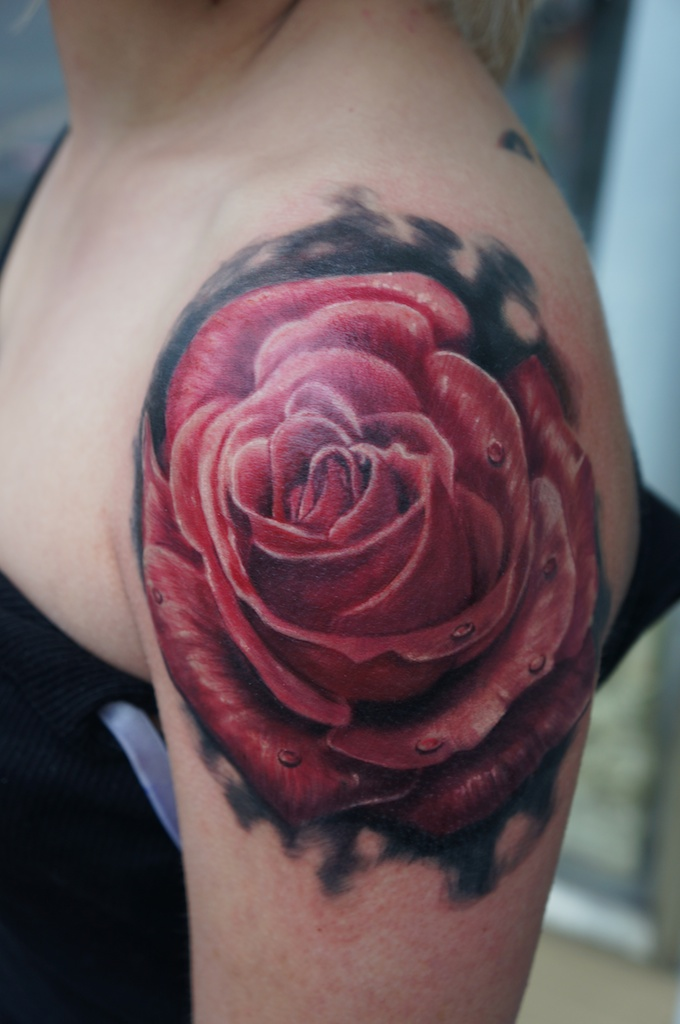 a rose tattoo by graynd