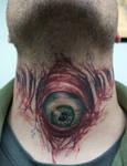 evil eyeball on throat...healed