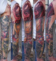 comic sleeve in progress... by graynd
