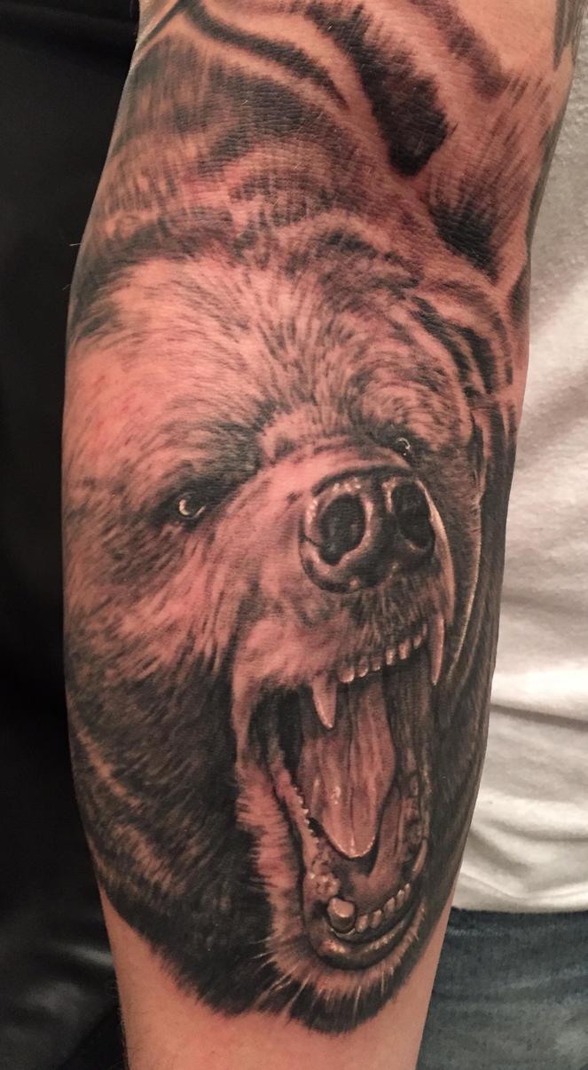 a bear tattoo by graynd