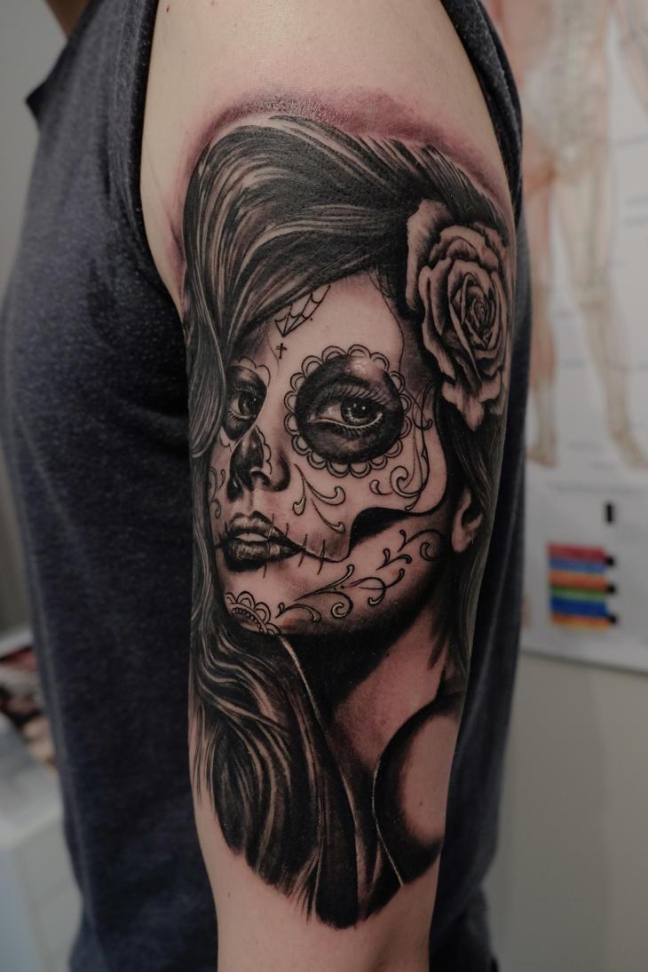 La catrina Tattoo by graynd