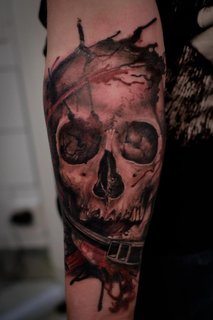 Skull Tattoo by graynd