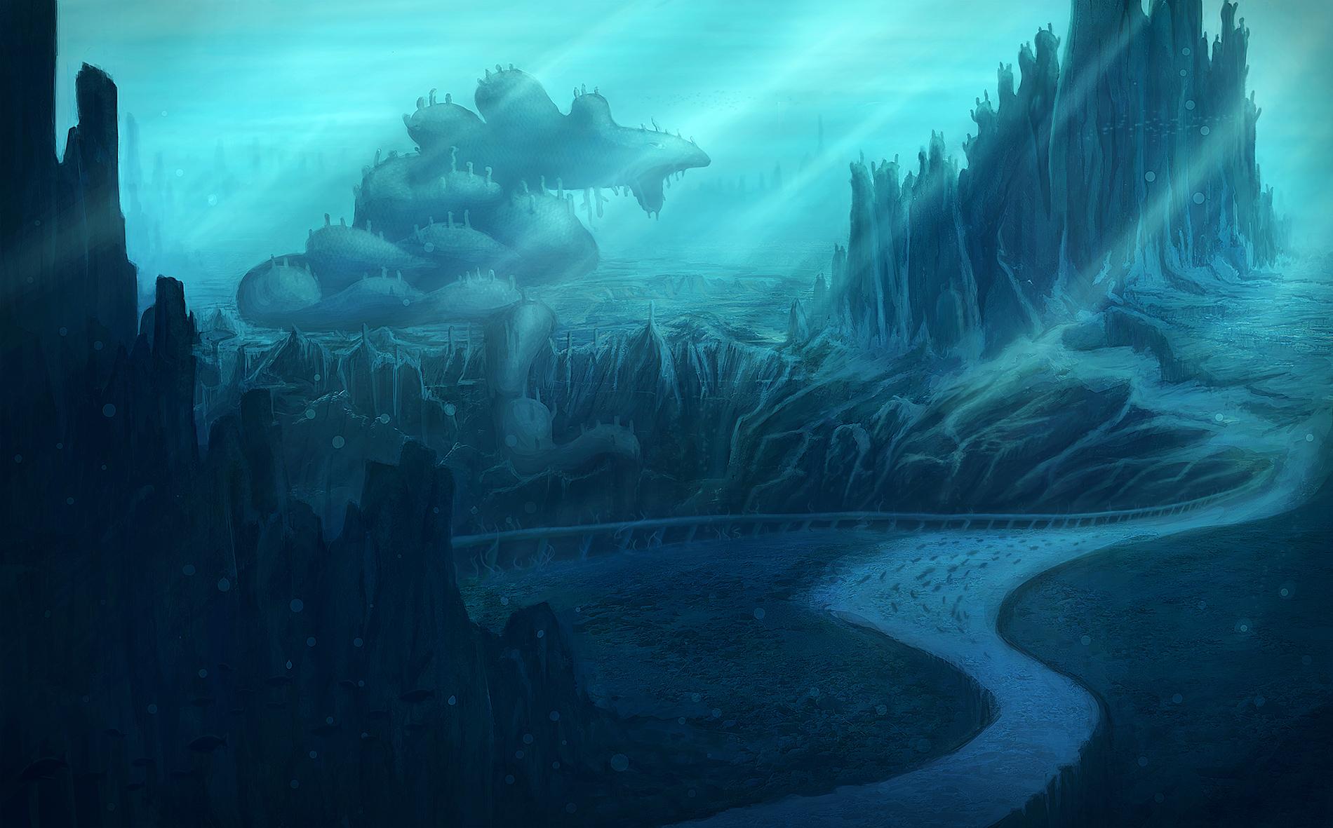 Deep Sea Landscape Concept by AlexBostone on DeviantArt