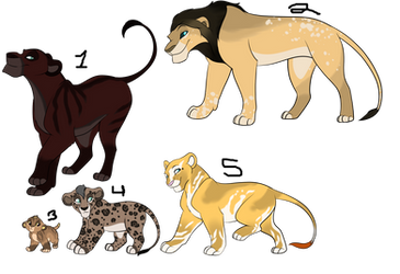 Lion Adopts- Closed by ThunderLordess