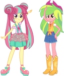 Equestria Girls AU - Sour Sweet and Lemon Zest