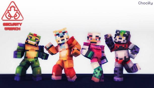 Minecraft Security Breach Skins (LINKS IN DESC)