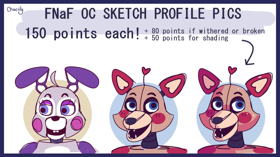 FNaF OC PFP Commissions [OPEN] (updated prices)