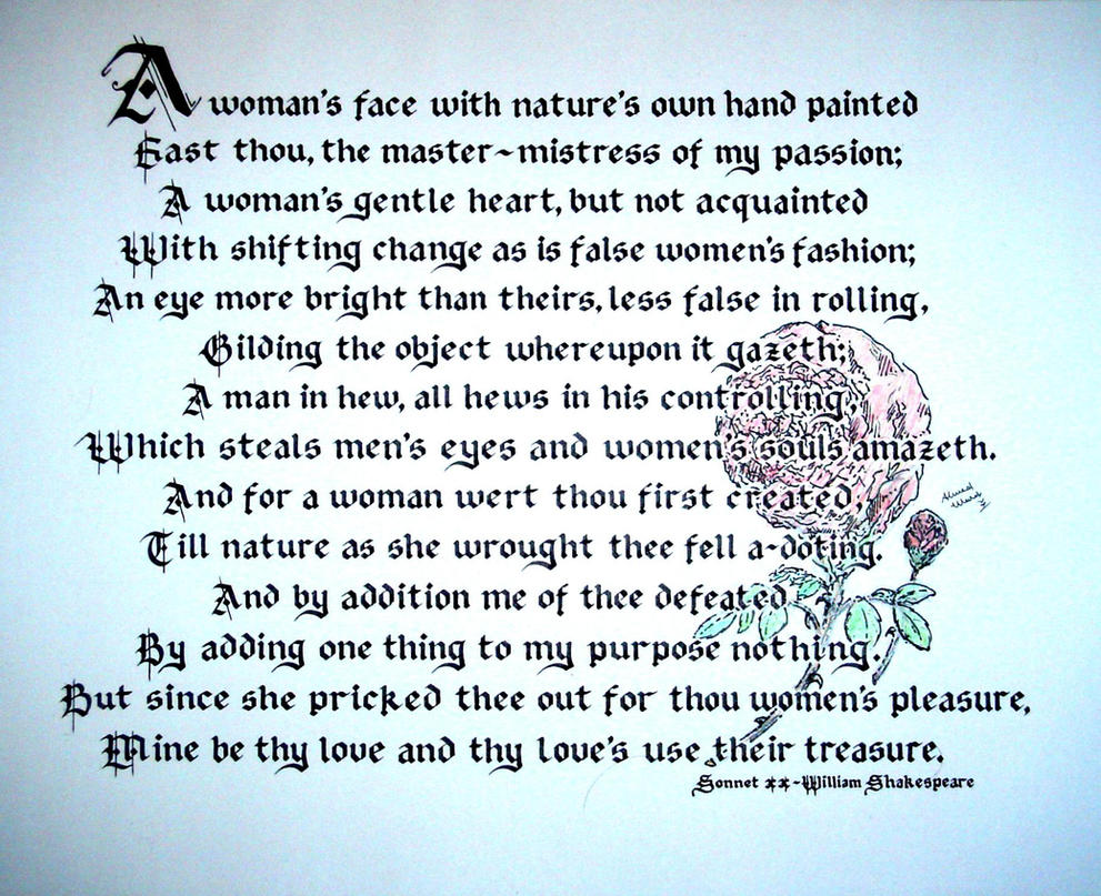 sonnet 18 sonnet 43 compare Shall i compare thee to a summer's day thou art more lovely and more  temperate: rough winds do shake the darling buds of may, and summer's lease  hath all.