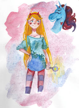 Star butterfly and Ponyhead
