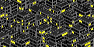City buildings Tesselation