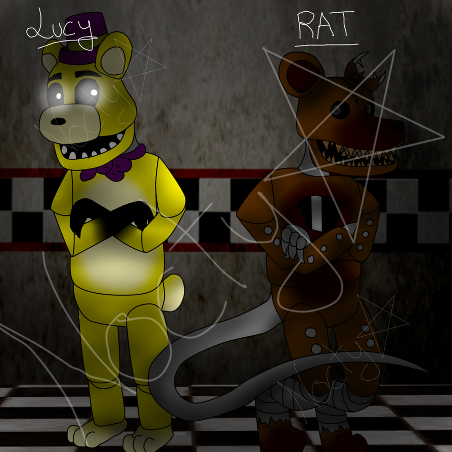 Lucy golden and rat fnaf and fnac crossover by pokegirl151 on