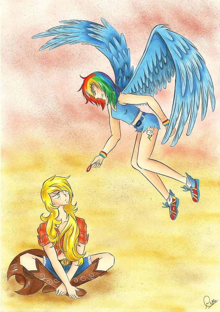Jackie and Dashie by YukiDelleran