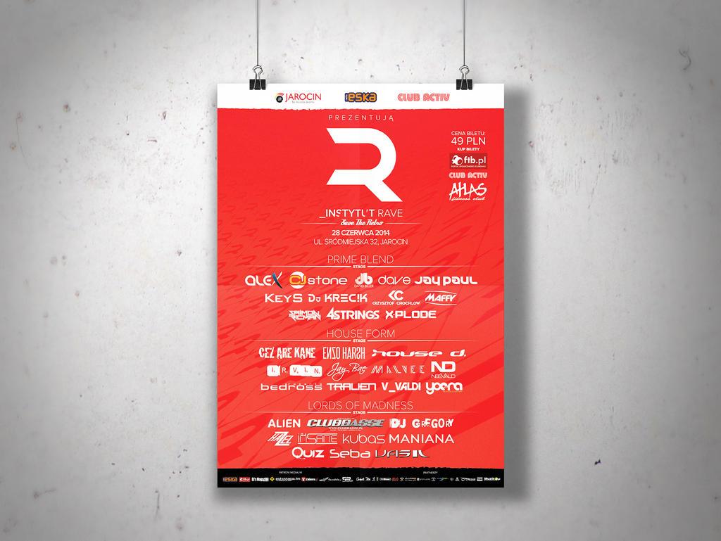 Graphics Design - Instytut Rave Identity by DoliwaWorkshop