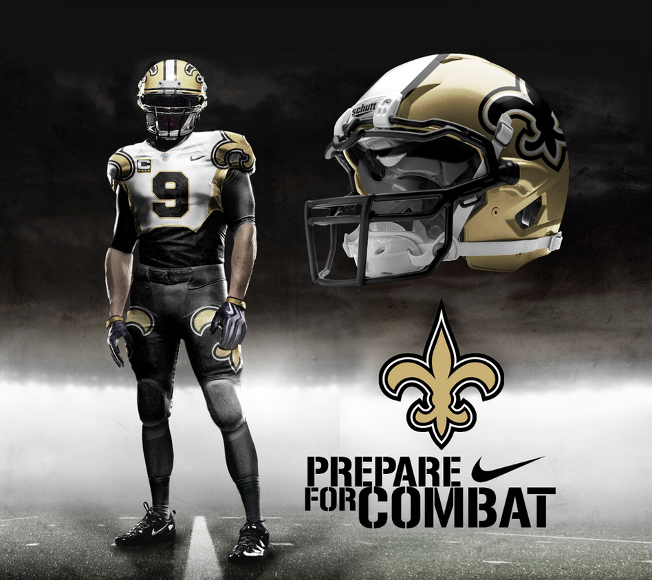 New Orleans Saints Away Alt by DrunkenMoonkey on DeviantArt