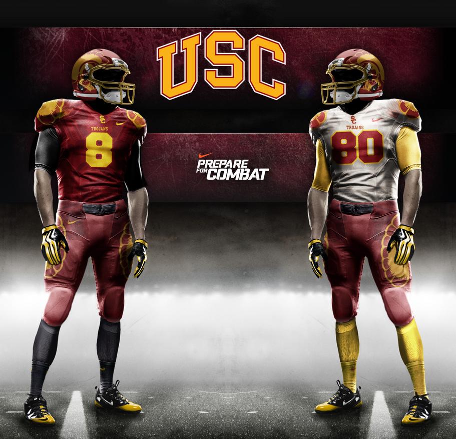 USC Trojans Pro Combat by DrunkenMoonkey