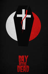 Day Of The Dead Minimal Movie Poster by DrunkenMoonkey
