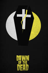 Dawn Of The Dead Minimal Movie Poster by DrunkenMoonkey