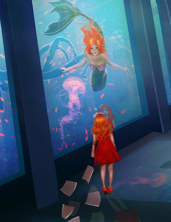 Ariel in aquarium by DolceCaramella