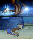 Squidward Laughing At Kaa