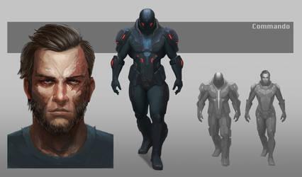 Sci-fi Soldier Concept Art