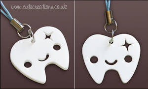 White Tooth Phone Strap
