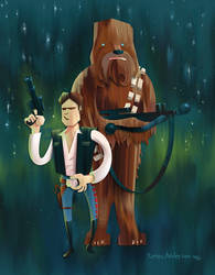A Boy and His Wookiee by Dinolad