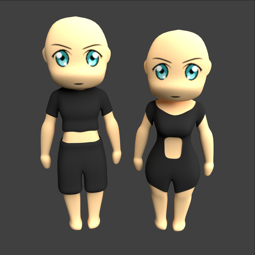 Blender Character Modeling Template : D anime manga character template by anroth on deviantart