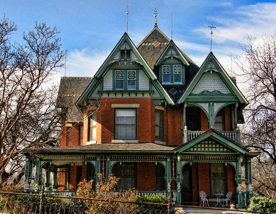 Victorian home 1 another view by digipho333 studio on for Brick victorian house
