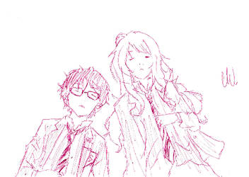 Your Lie In April Doodle 5 by FireTrinity