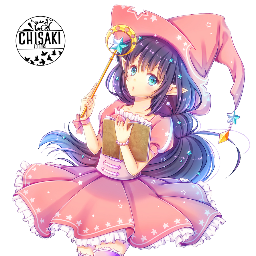 witch anime render by chisachii on deviantart