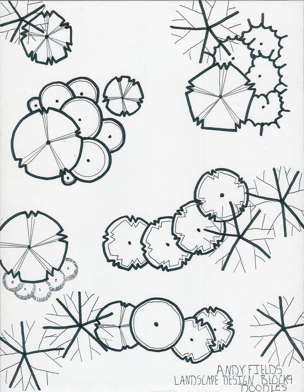 Symbols Landscape Architecture Sketches Landscape Landscape Drawing